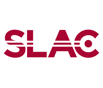 Logo for SLAC showing stylized SLAC text and National Accelerator Laboratory below